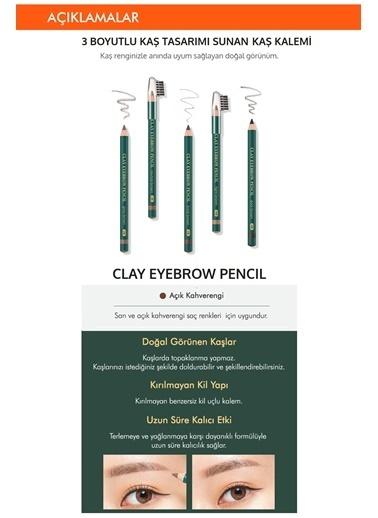 Missha Doğal Görünüm Sağlayan Kaş Kalemi Clay Eyebrow Pencil (Light Brown) Renksiz